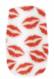 Naillease Nail Wraps White & Red Lips